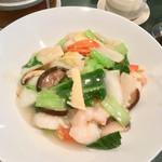 中国レストラン 雪園 - 海老あんかけ焼きそば