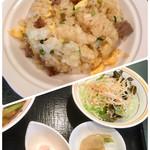 中国レストラン 雪園 - 半炒飯セット(サラダ・搾菜・苺のムース)