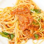 ヴィオニエ - 料理写真:水菜のボロネーゼ スパゲティ