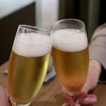 マンゴツリーカフェ - シンハービールで乾杯〜♪