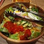 個室&メキシカンダイナー AWESOME - コブサラダ。いろいろ入っております。