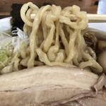太麺屋 - 普通盛り700円太麺あぶらっぽく麺固め+味玉半熟100円