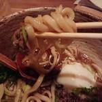 うどん山長 - 太麺
