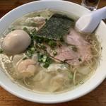 99013541 - 【2018.12.10】塩雲呑麺1050円+煮たまご100円