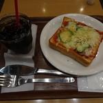 アップカフェ - アイスコーヒー&ピザトースト