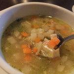 9902058 - 野菜の細かいみじん切り スープ