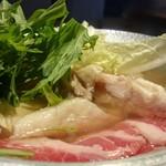 北天の丘あばしり湖鶴雅リゾート COTA - 塩鍋(豚肉・鶏肉)