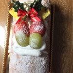 まーる茶房 - 料理写真:まーる茶房のクリスマスバージョン 「いちごのロールケーキ」