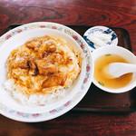 99035314 - 味覚飯・肉です。スープと香の物が付きます。(2018.12 byジプシーくん)