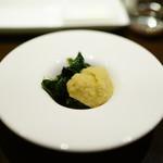 ビンゴ - そら豆のピューレとくたくた野菜
