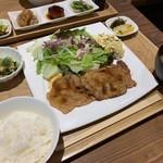 A食堂 - 岩中豚の生姜焼き定食