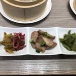 横濱崎陽軒シウマイBAR - おつまみ3種盛り ザーサイ、マグロのネギ和え、山クラゲ