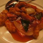 酒菜 氷凌花 - 白身魚の唐揚げケチャップソース