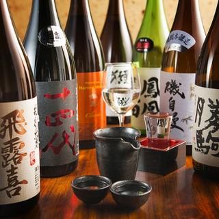 牡蠣に合う日本酒はもちろん、全国の地酒をご用意しております!
