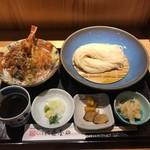 銀座 佐藤養助 養心蔵 - 特製天丼セット(1550円)