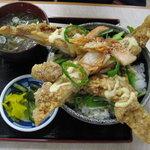 みどり湖パーキングエリア(上り線)白樺亭 - 山賊丼!!これは普通盛り