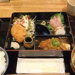 漁港直送鮮魚と地酒 くすくす - 2011/9/8 日替わり和弁当