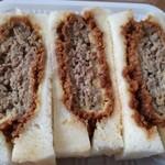 牛かつ いち華 - メンチかつサンドイッチ