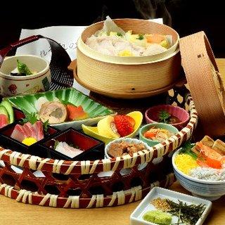 地元・知多半島の山海の幸と、愛知県産の新鮮食材を使用!