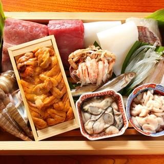 ■全国各地の新鮮な魚介類を使用しています■