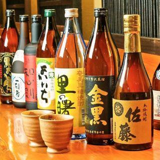 種類豊富な地酒・銘柄焼酎