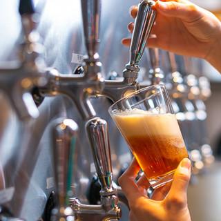 ビールは厳密な温度&気圧管理により、最適な味わいでご提供