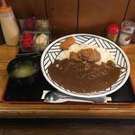 とん娘 - シングルカレー  ヒレカツ60g ¥600  トッピング ミニクリームコロッケ ¥80 ライス大 ¥0 味噌汁 ¥50