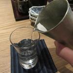 蕎麦前 山都 - 冷酒(伯楽星 純米吟醸)