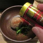 蕎麦前 山都 - 七味は善光寺の八幡屋