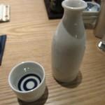 蕎麦前 山都 - 燗酒(会津娘)
