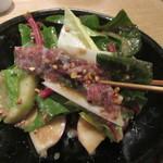蕎麦前 山都 - 珍しい馬肉の生ハム