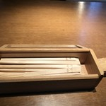 根津 釜竹 - お箸にも釜竹の名前が