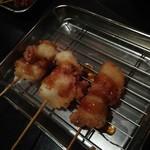 串かつ風土 - 活たこ串とポン酢のジュレ