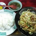 上海楼 - 料理写真:「五目焼きそば&白飯」830円