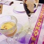 ココロ - 最初のピーナツカボチャの冷製ポタージュ と泡