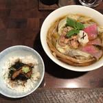 99079101 - 「和牛フォアグラ雲呑麺 フォアグラ丼付き」1800円