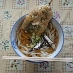 宮川製麺所 - うどん(小)といわし天