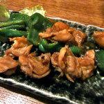 旬菜 籐や - 鶏サガリの炒め物