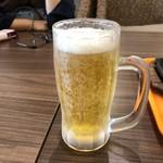 いきなり!ステーキ - 2018年12月23日  オリオン生ビール(中)500円