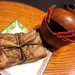 日本料理 梅林 - うなぎの朴葉蒸し、伊勢海老椀