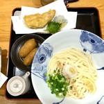 讃岐絢うどん - 生醤油うどん  ¥370  ささみ天(1本) ¥200