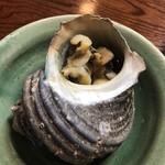焼貝うぐいす - 焼き貝5種 サザエのつぼ焼き