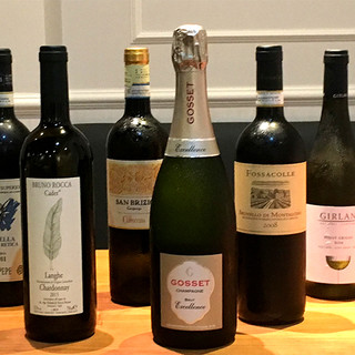 イタリア公認ソムリエのワインリストとシェフのワインペアリング
