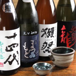 こだわりの日本酒も数多くストック