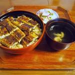 竹屋 - うなぎ丼(肝吸い付き) 特上