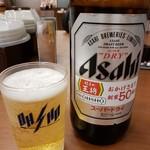 餃子の王将 - 瓶ビール(大瓶)2018.12.20
