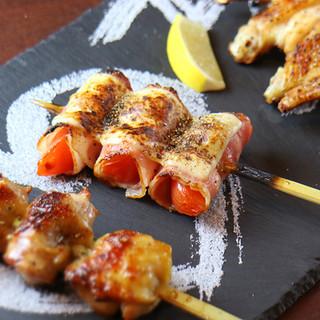 鶏、塩、焼にこだわる厳選串