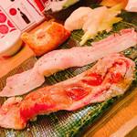 吉祥寺 肉寿司 - 炙り肉寿司4種