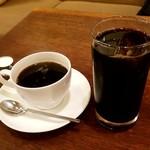 99107219 - ブレンドと、アイスコーヒー