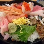 魚盛 - 魚盛 丸の内店 @大手町 ランチ 魚盛海鮮丼 後ろからの眺め